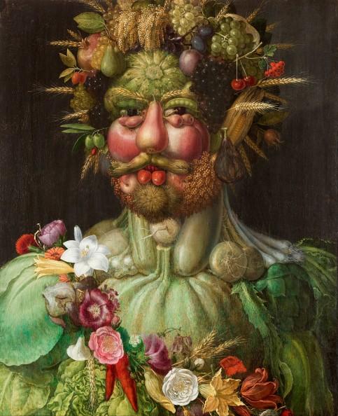 Rodolphe II en habit de Vertumne, par Archimboldo (1591)