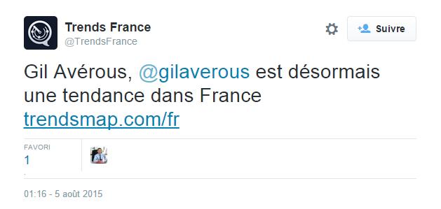 Gil Averous tendances France